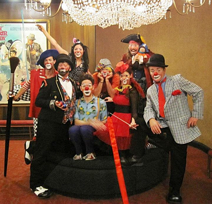 A group of Clowns entertaining at the zeigfeld theater